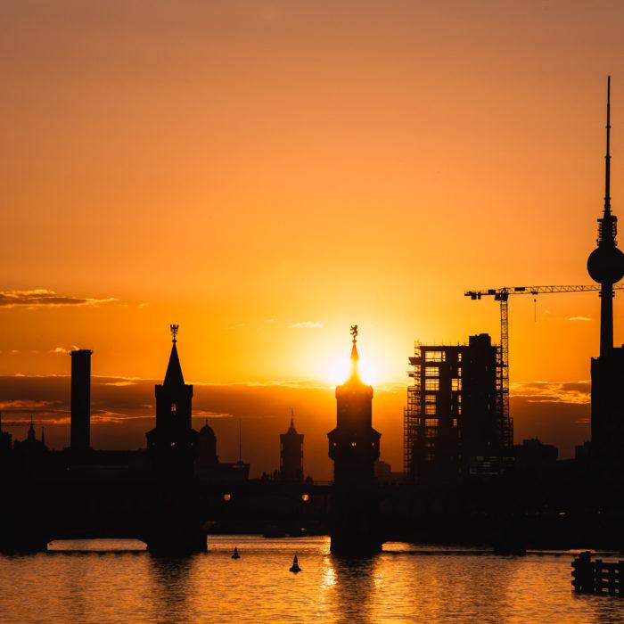 Ost-Berliner Sonnenuntergang